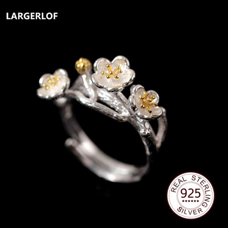 цены LARGERLOF 925 Silver Ring Women Handmade Fine Jewelry Silver 925 Jewelry Ring silver 925 JZ12077