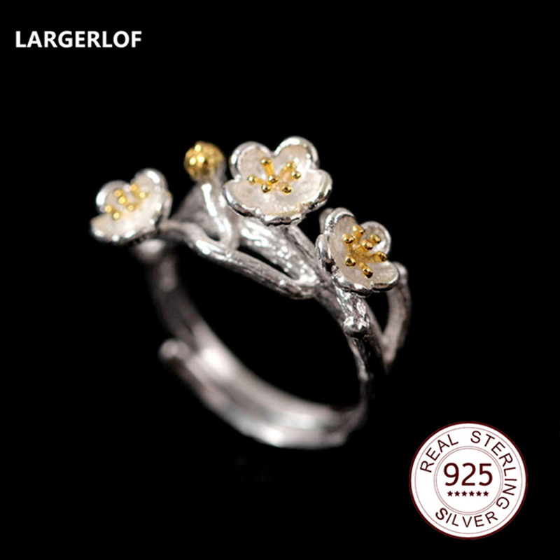 LARGERLOF Real 925 Sterling Silver Jewelry Rings