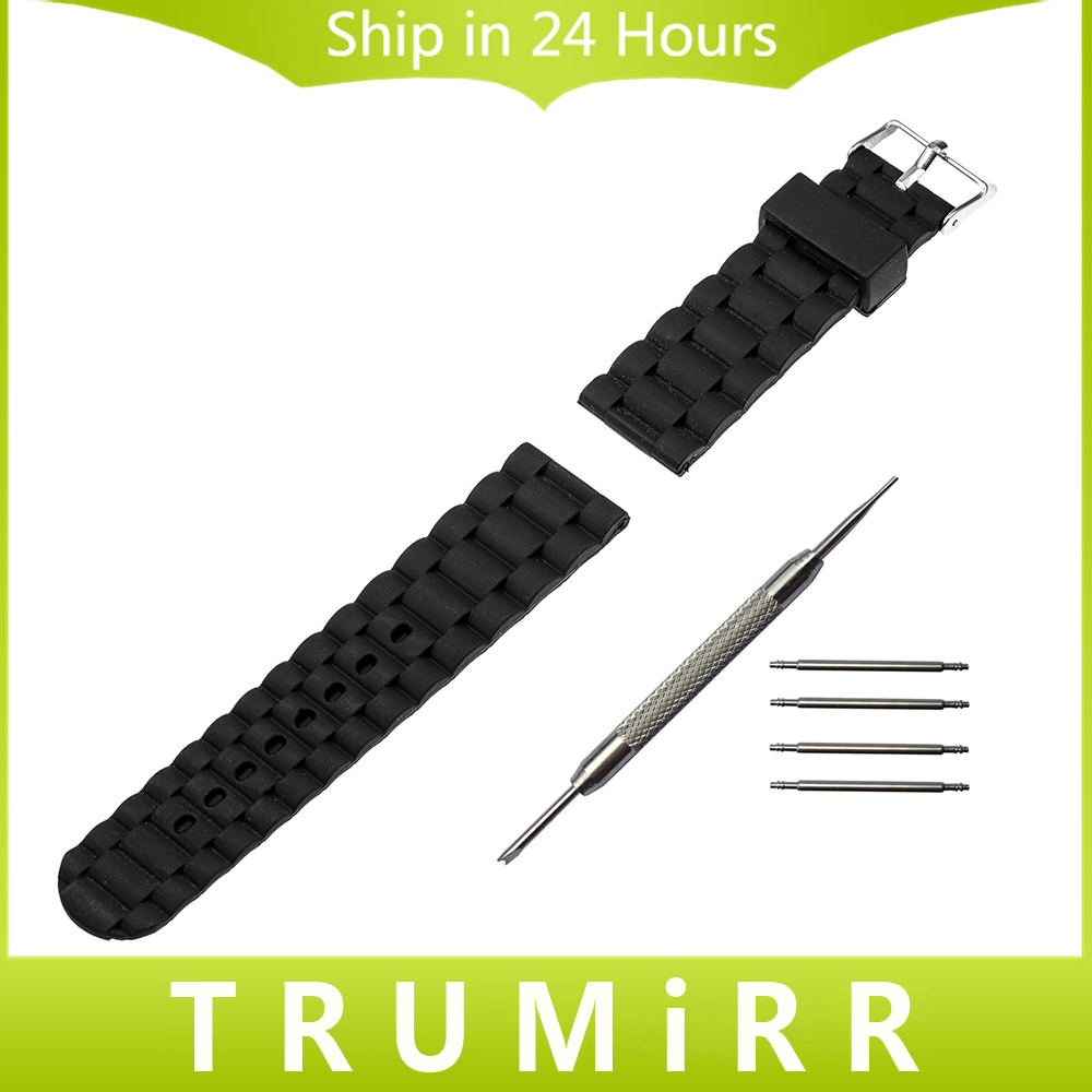 22mm Silicone Rubber Watch Band Strap Bracelet for Samsung Galaxy Gear 2 R380 Neo R381 Live R382 Moto 360 2 Gen 46mm Pebble Time milanese stainless steel watch band tool for moto 360 2 46mm samsung gear 2 r380 neo r381 live r382 replacement strap bracelet