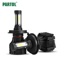 Partol S5 H4 H7 H11 H1 9005 9006 COB LED Headlight 72W 8000LM All In One