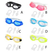 Glasses Nose-Clip Swimming-Goggles-Set Anti-Fog Waterproof Adult Women with Ear-Plug