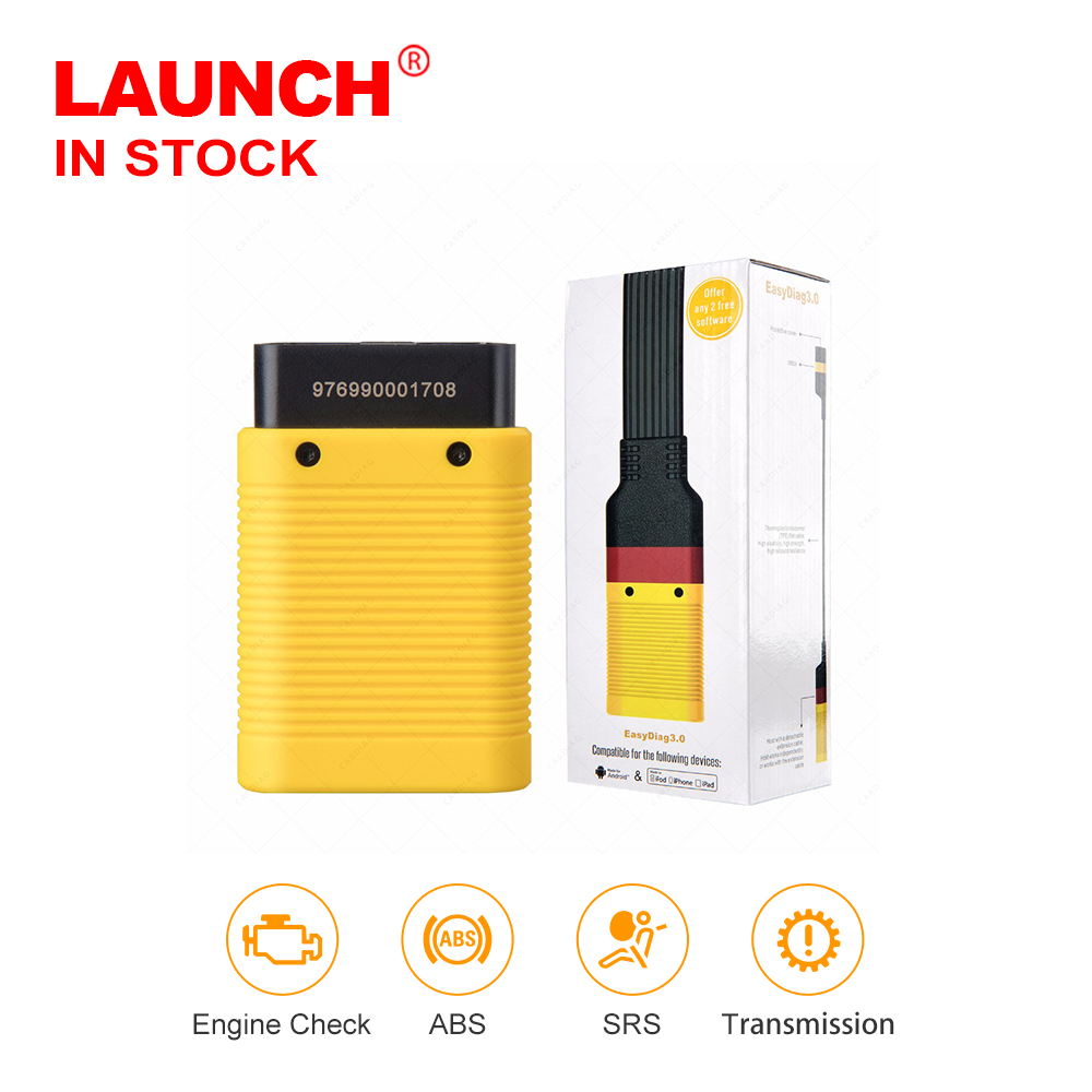 Launch Easydiag 3.0 Automotive obd2 Diagnostic Tool for Android OBDll Bluetooth Adapter scanner good than launch easydiag 2.0