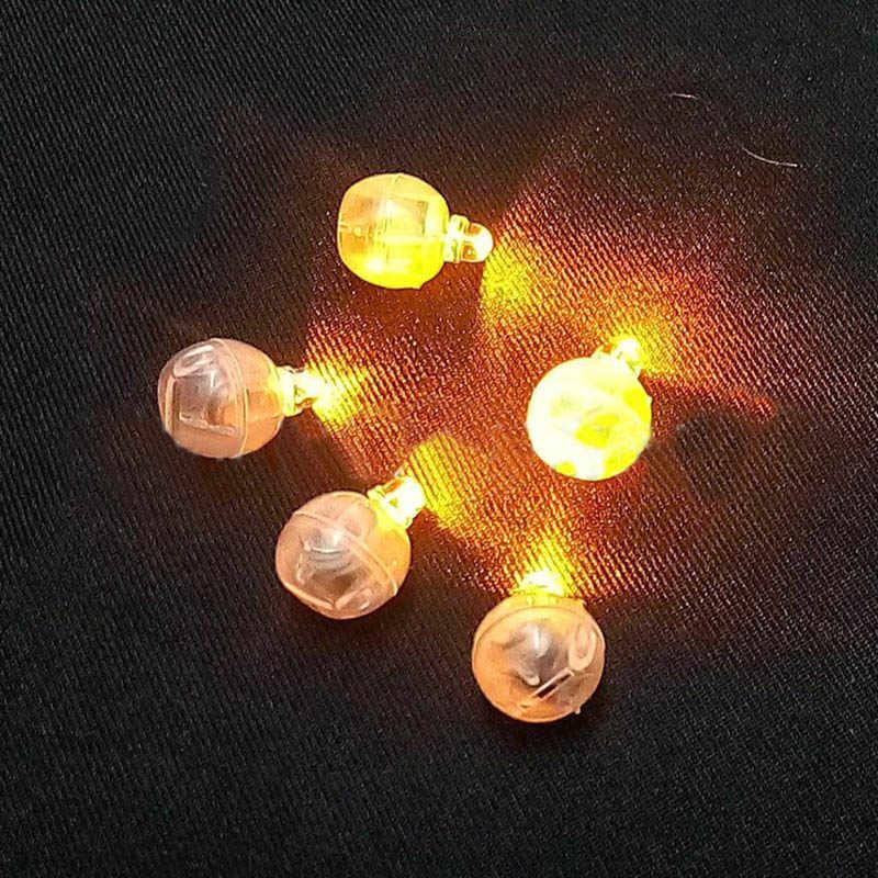 20Pcs สีรอบ MINI LED RGB หลอดไฟแฟลชใส่กระดาษโคมไฟบอลลูนสำหรับคริสต์มาสงานแต่งงานตกแต่ง