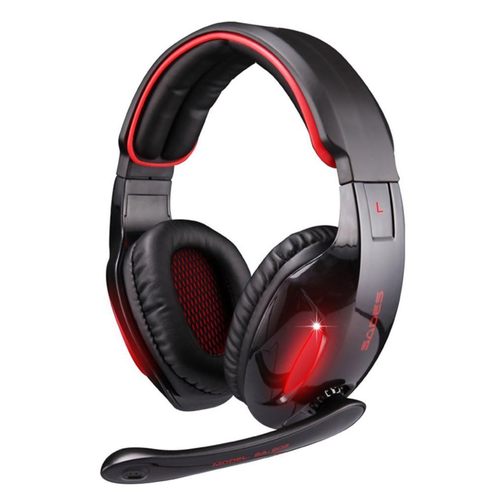 Original Sades SA 902 7.1 Surround Sound Effect USB Gaming Stereo Headset Headphone with Mic