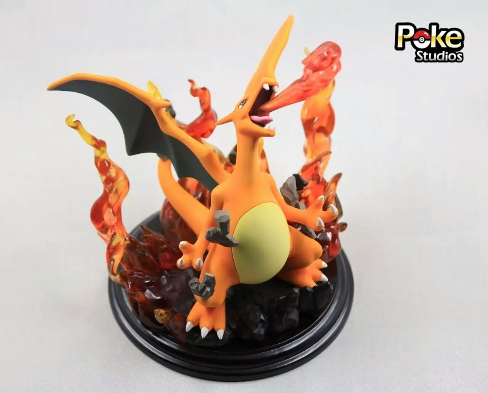 MODEL FANS IN-STOCK Genuine poke studios 15cm pokemon Charizard GK resin made figure toy for Collection model fans in stock 23cm pokemon snorlax gk resin made figure toy for collection