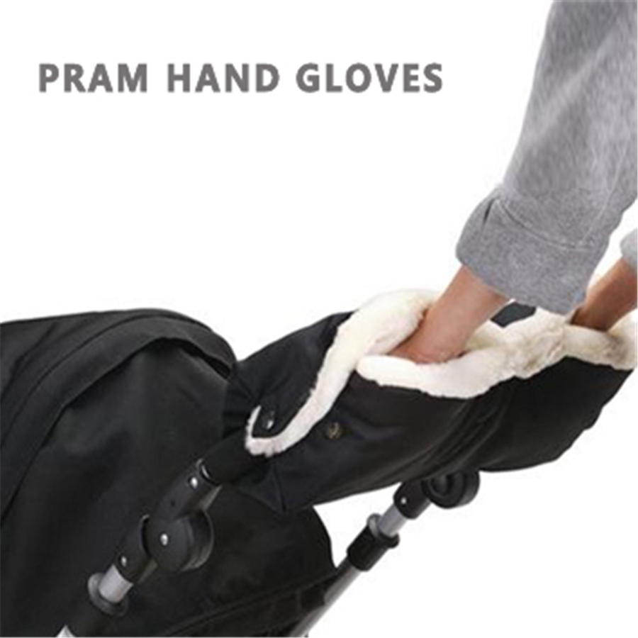 Winter Waterproof Baby Stroller Gloves Golf Warmer Hand Foldable Extra Thick Warm Pram -8375