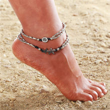 Ufavoirte Summer Beach Starfish circle Anklets For Women Shell Foot Jewelry Summer Beach(China)
