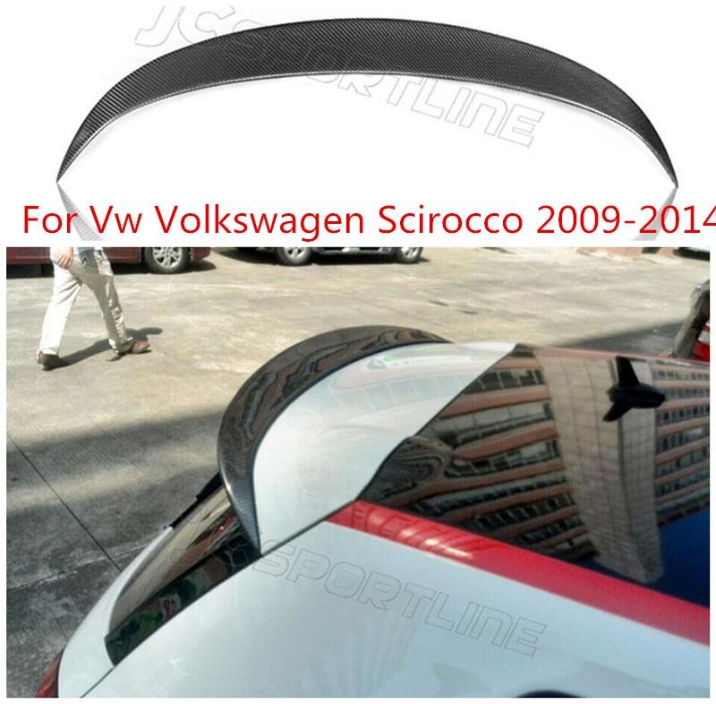 JINGHANG 100% bobine de lèvre de coffre d'aile arrière de voiture en Fiber de carbone convient pour Vw Volkswagen Scirocco 2009-2014