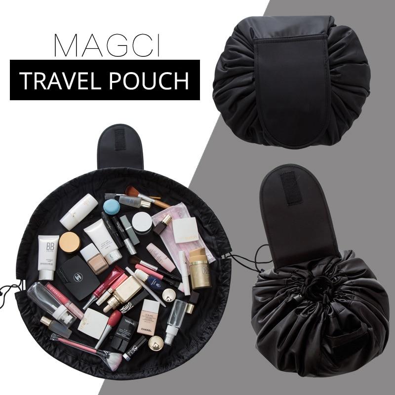 Women Drawstring Cosmetic Bag Fashion Travel Makeup Organizer Make Up Case Storage Pouch Toiletry Beauty Kit Box Wash