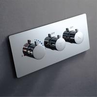 Смеситель для душа с встроенной коробкой в стене скрытый латунный душевой переключатель Термостатический контроль ler Water проточные клапаны