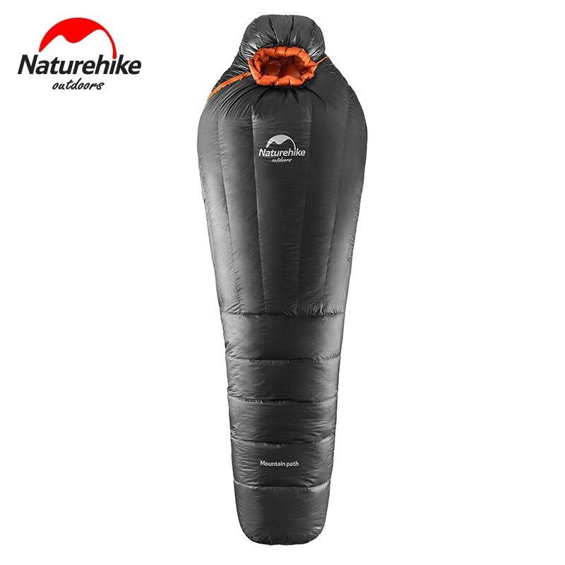Sac de couchage en duvet d'oie pour équipement de Camping naturel ultra-léger Camping en plein air momie sacs de couchage hiver sac de sommeil chaud