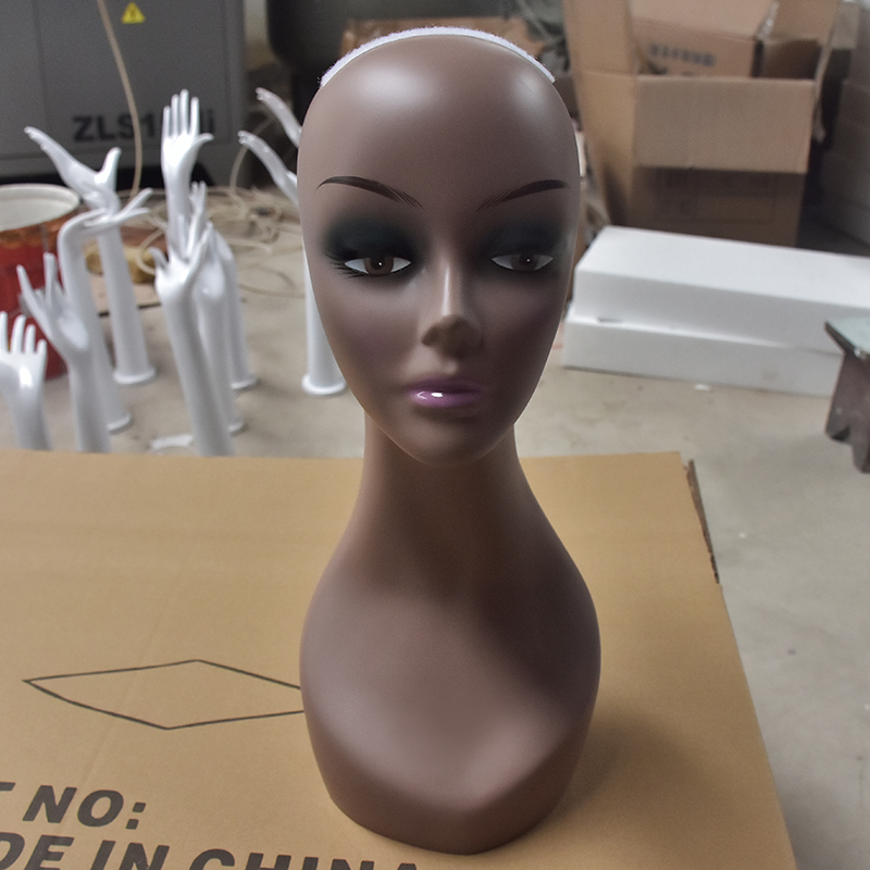 Honey Bald Female Cometology Mannequin Head Training Head Doll Head For Wig Making With Free Head Stand T-pins Black Skin Tools & Accessories