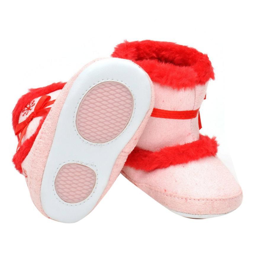 ARLONEET 2017 Baby Girls Soft Sole Crib Warm Flats Cotton Boot Toddler Prewalker Shoes