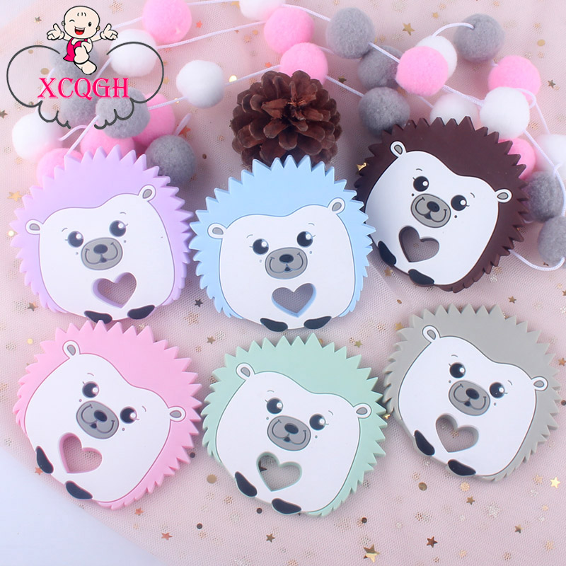 XCQGH 1PCS Baby Silicone Hedgehog Teether Baby Molar Stick Teether Toy Baby Comfort Tool Silicone Baby Teether