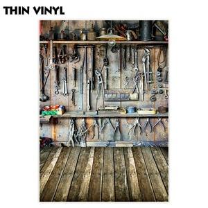 Image 2 - Allenjoy צילום תפאורות סדנה כלים מחסן ישן עץ קיר ילדי רקע תמונה סטודיו שיחת וידאו photophone