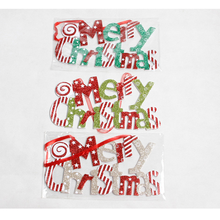 1PC Merry Christmas Sign Hanging Paper with Holidays Door Wall Tree Ornaments