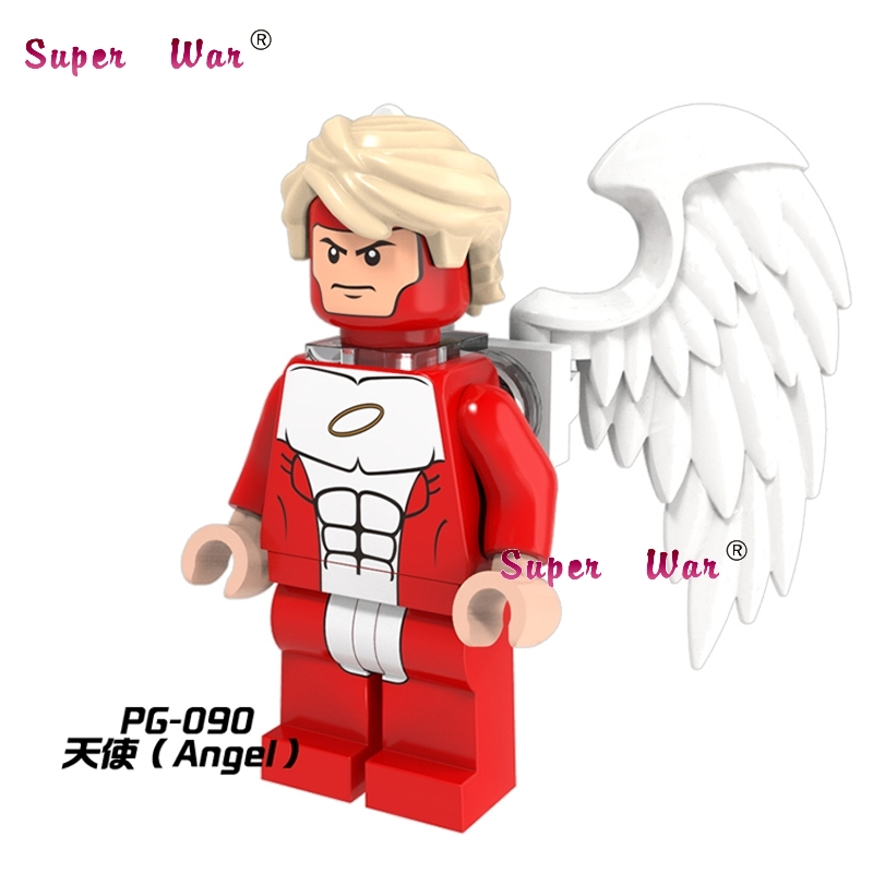1PCS star wars superhero marvel avengers Angel X men movie building blocks action model  ...