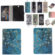 TX Para Samsung Galaxy Tab 9.7 pulgadas T550 SM-T555 T555 P550 P555 Pintura OWI Tigre de Cuero de La Pu Caja de la Tableta Cubierta Del Soporte Fundas