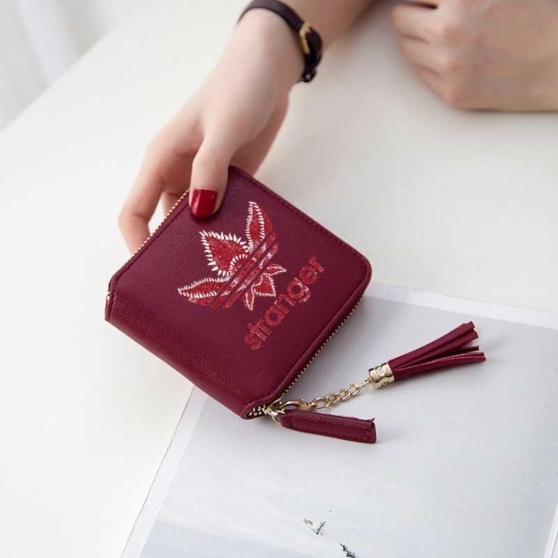 新しい Kpop ストレンジャー Kpop アクセサリー女性財布ショートジッパーカードガール財布や財布ミニバッグスタイリッシュなケース