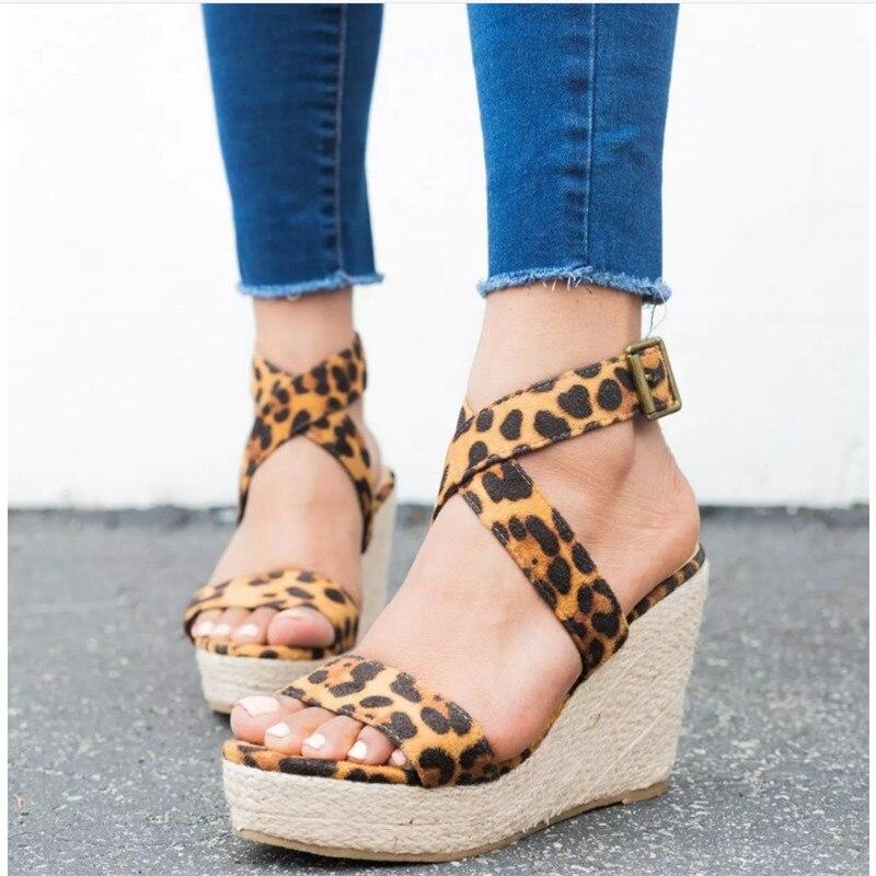 HEFLASHOR Summer Sandals High-Heels Pumps Platform Cross-Tied Ladies Shoes Gladiator