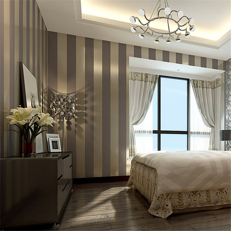 Modern 3D Glitter Gold Wallpaper Ambilight Wall Mural Sliver Panel Mirror Paper Striped For Living Room Bedroom In Wallpapers From Home