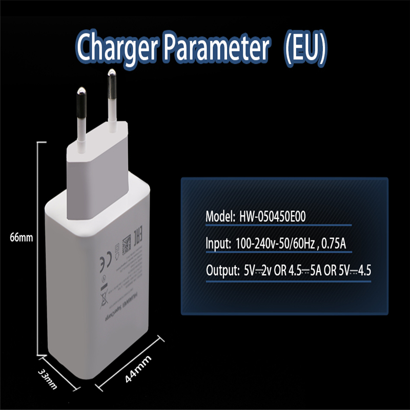 Original for <font><b>Huawei</b></font> mate 9 10 Pro P10 Plus <font><b>Supercharge</b></font> Wall Travel Quick Super Fast Charger EU <font><b>Adapter</b></font> quick charger type-c cab image