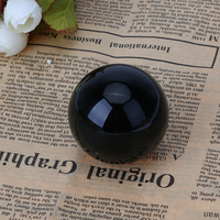Asian Rare Natural Black Obsidian Sphere Large Crystal Ball Healing Stone Home Decorative Stone Craft