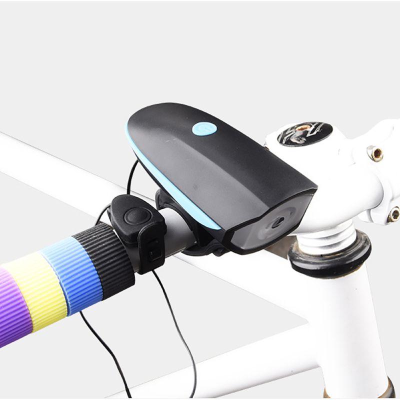 Ciclismo bicicleta de montaña cuerno eléctrico campana luz de la bicicleta Super brillante faros Vocal USB carga Night Riding ciclismo