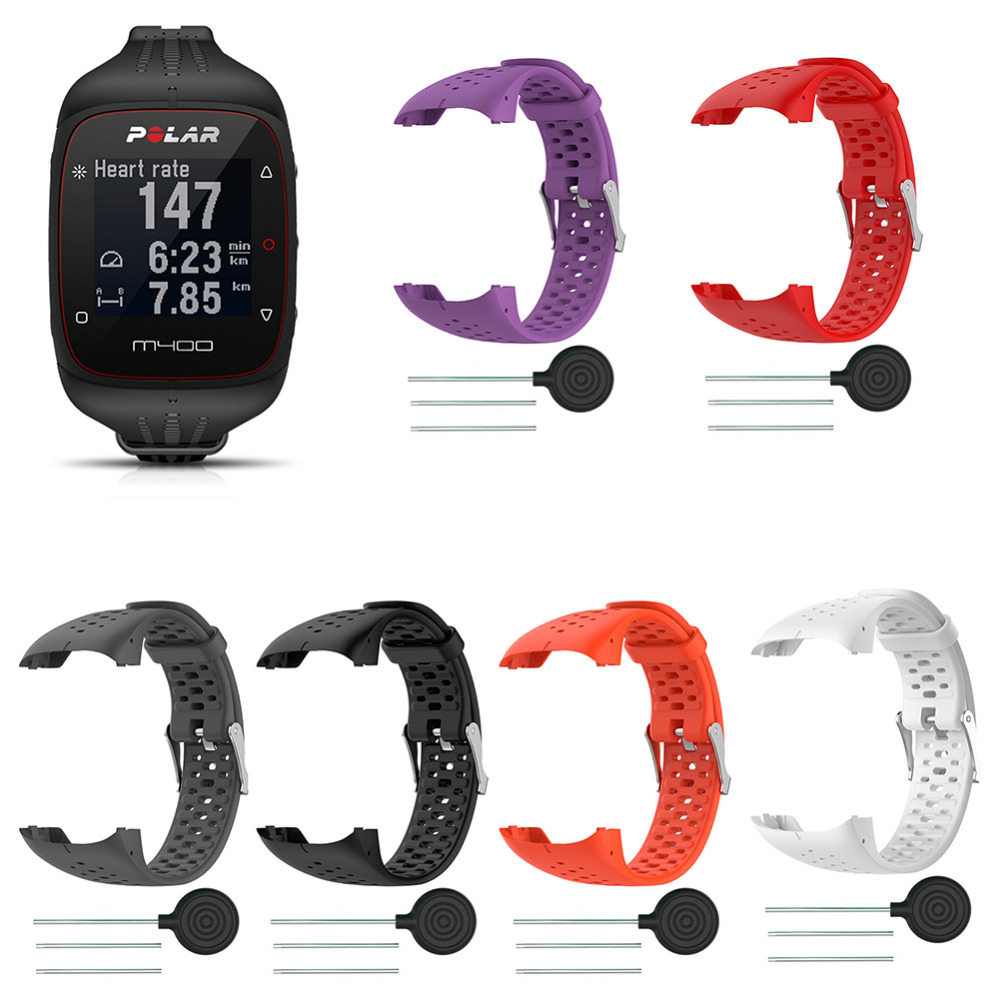 for Polar M400/M430 Smart Running Watch Polar GPS Watch Soft Silicone Replacement Band Accessories Wristband Strap