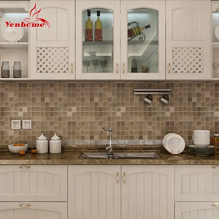 keuken tegels stickers : 5 Meter Pvc Muursticker Badkamer Waterdichte Zelfklevende Behang