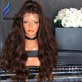 Alicrown Glueless Full Lace Human Hair Wigs Lace Front Wig Body Wave Virgin Human Hair Wigs With Baby Hair Ombre Wig Human Hair