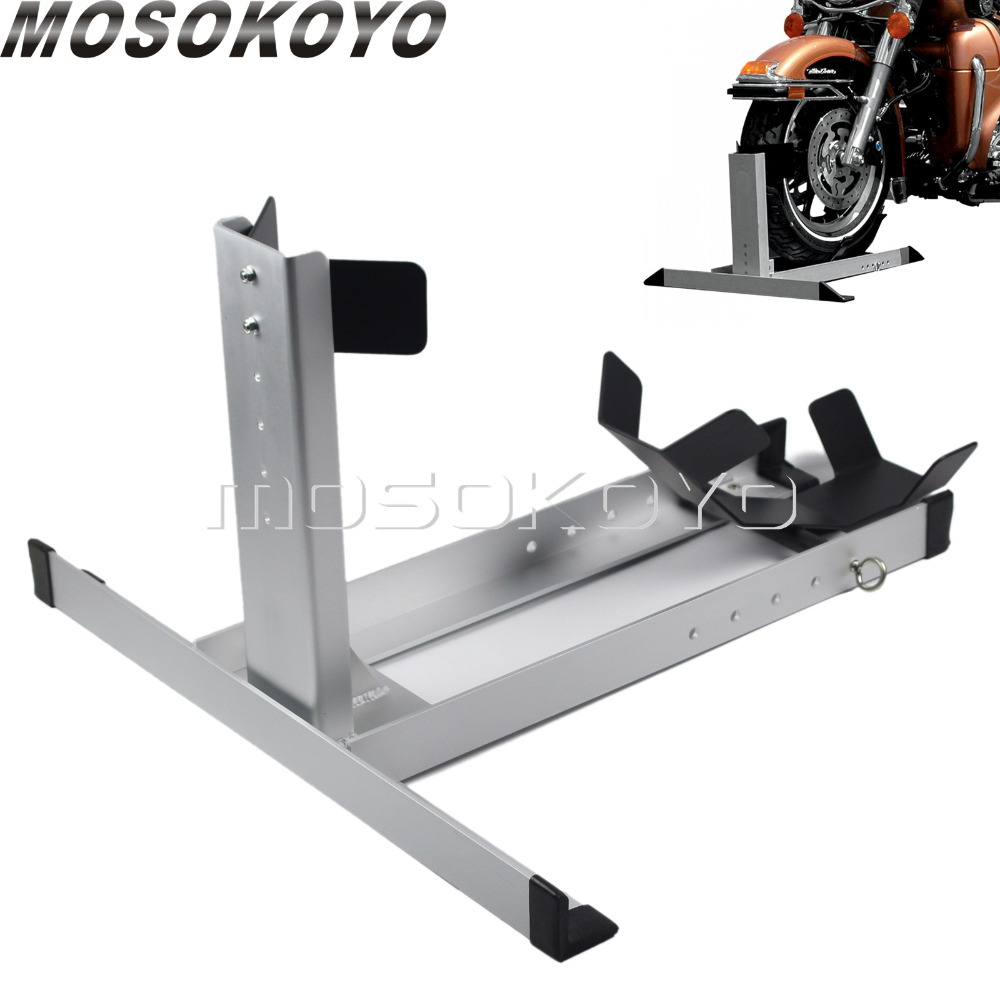 Motorcycle Trailer Wheel Chock Attachment Kit Front Wheel Floor Stand for Road Cruisers Sports Bike Cafe