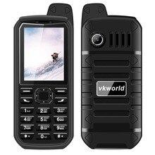 4000 mAh Battry VKWorld Piedra V3 Plus Teléfono Móvil 2.4 pulgadas MTK6261 IP54 Impermeable Anciano Teléfono FM Radio Dual SIM GSM teléfonos celulares