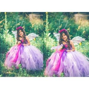 Image 2 - Purple Princess Girls Christmas Party Tutu Dress for Baby Beauty Fairy Kids Butterfly Flower Dresses Birthday Wedding Costume