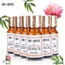 Famosa marca oroaroma Helichrysum Canela ylang Bergamota Jojoba Argan Essential Oils Pack para Aromatherapy Spa Bath 10ml * 6