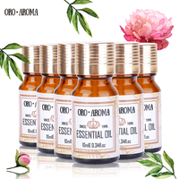 Famous brand oroaroma Helichrysum Cinnamon Ylang Bergamot Jojoba Argan Essential Oils Pack For Aromatherapy Spa Bath 10ml*6