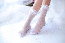 Autumn New Mesh Lace Socks Ultrathin Transparent Female