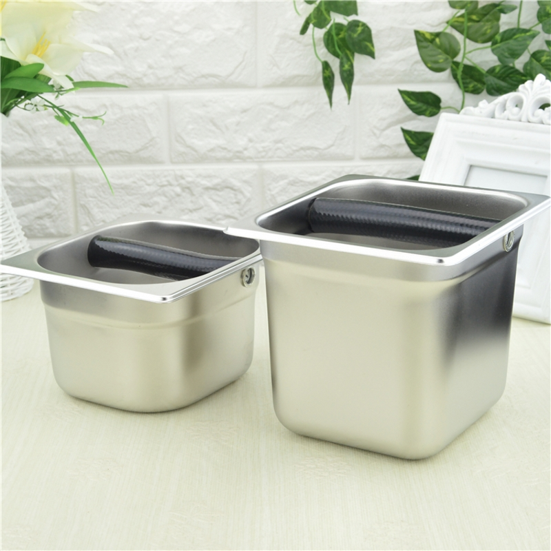 Stainless Steel Espresso Coffee Knock Box Container Coffee Grounds Container Coffee Bucket For Barista S / L Size