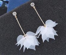 Sexemara nova flor artesanal bohemia boho brincos moda longo pendurado brincos de cristal feminino casamento brincos festa jóias