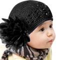 2017 Fashion 11 Colors Winter Autumn Crochet Flower Baby Hat Girl Cap Infant knitted toddlers New Children Lovely Baby Beanie