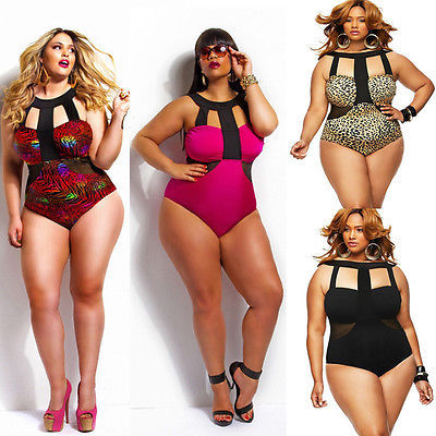 a0683e17eb One Piece Swimsuit Women Swimwear 2016 Hot Summer Beach Padded Fat Bodysuit  High Waisted Bathing Suit Swim Wear For Lady 4XL
