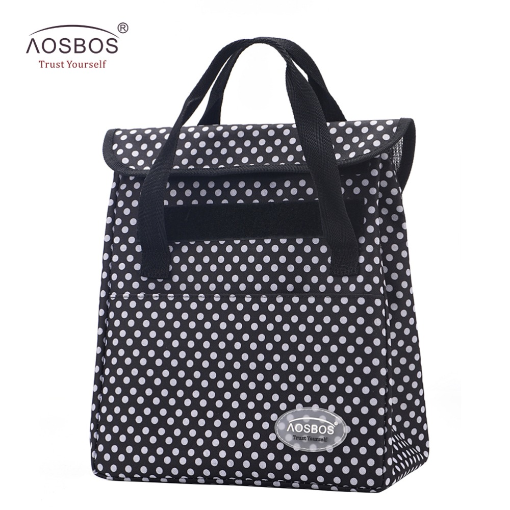 Aosbos Portable Thermal Lunch Bags Women Men Multifunction Large Capacity Storage Tote Bags Food Picnic insulation Cooler Bag цена