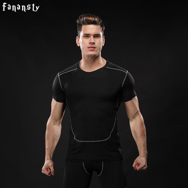 Sportovní triko běžecké tričko pánské s krátkým rukávem Fitness tričko Top muži Camoflage Běžecké triko Pánské Quick Dry Gym Oblečení Tričko