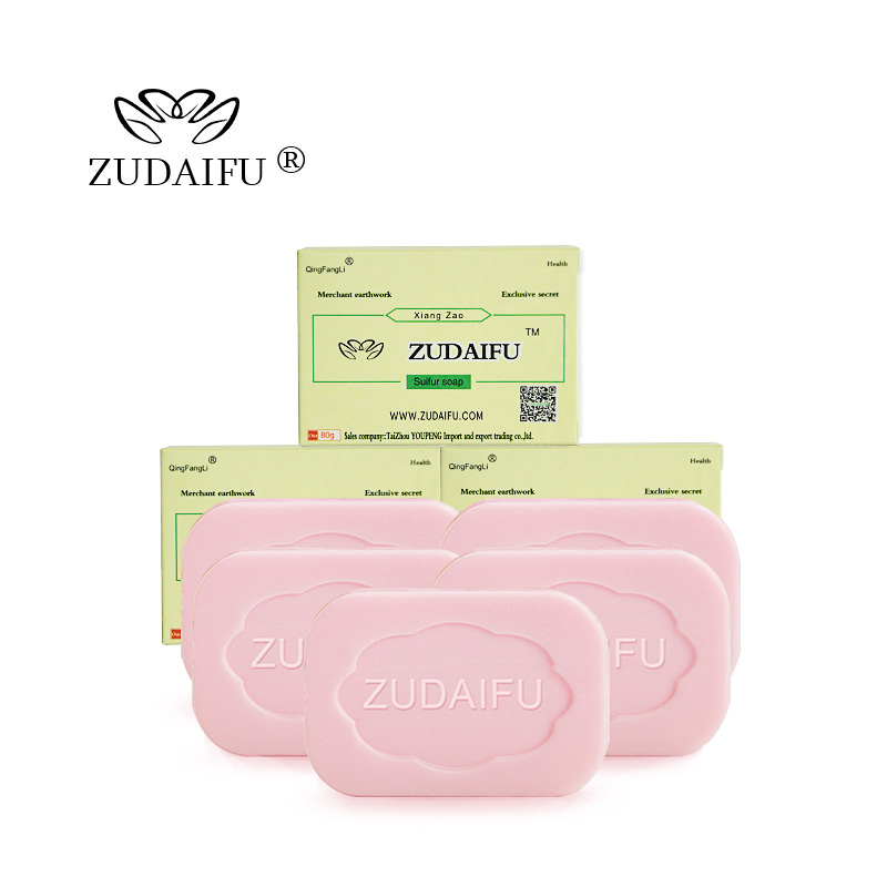 100 PCS Zudaifu Sulfur Soap Skin Conditions Acne Psoriasis Seborrhea Eczema Anti Fungus Bath Whitening Soap Shampoo Beauty Soap