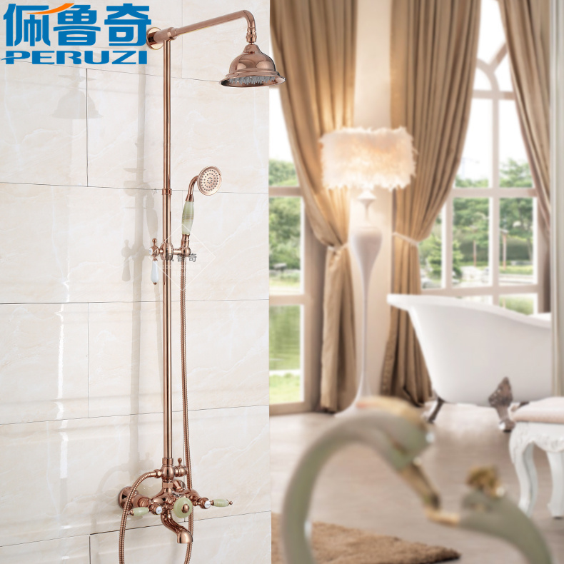 っAntique Continental golden shower natural jade suit shower mixing ...