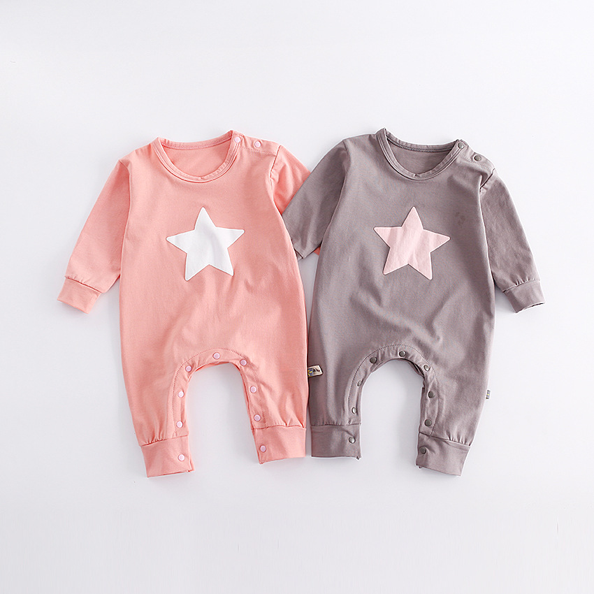 Newborn Baby Boy Clothes Infant Romper Long Sleeve Star Print Baby Girl Rompers Jumpsuit Pajamas Baby Clothing Girl 1 2 Years infant baby girl rompers jumpsuit long sleeve for newborns baby boy brand clothing bebe boy clothes body romper baby overalls