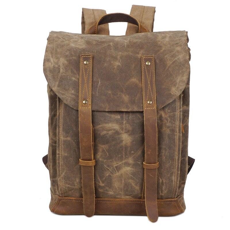 Nesitu duży rozmiar rocznika Khaki szary zieleń wojskowa płótnie mężczyźni plecaki kobiety plecak 14 ''laptop męskie torby podróżne # m5162 w Plecaki od Bagaże i torby na  Grupa 1