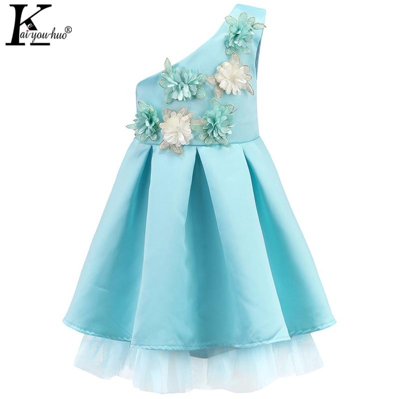 2017 Summer Girls Dress Princess Patry Dresses For Girls Clothes Flowers Kids Clothes Vestidos Children Chiffon