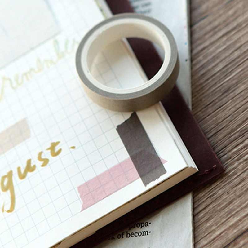 5 stks/pak Kleur Bibliotheek Washi Tape DIY Decoratie Scrapbooking Effen Kleur Masking Tape Plakband Label Sticker Briefpapier
