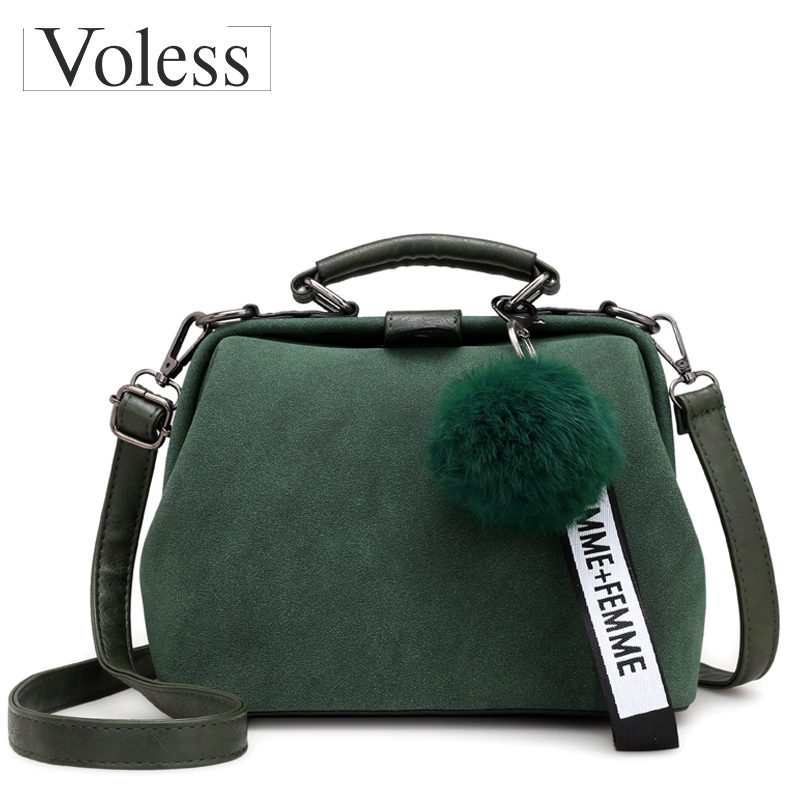 Shell Bag Women Leather Handbags Fashion Hairball Women Messenger Bags Bolsa Feminina Shoulder Bags Ladies Tote Bag Sac A Main women pu leather shoulder bag fashion lady sac a main fashion handbags shell tote crossbody with small bear woman messenger bags